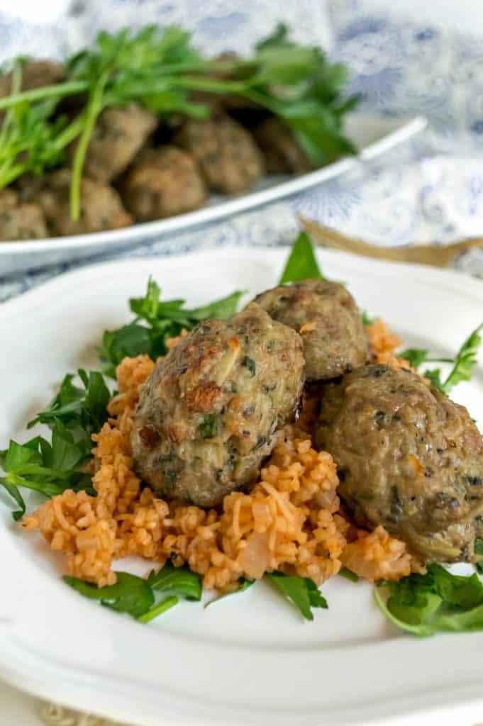 baked cypriot keftedes meatballs