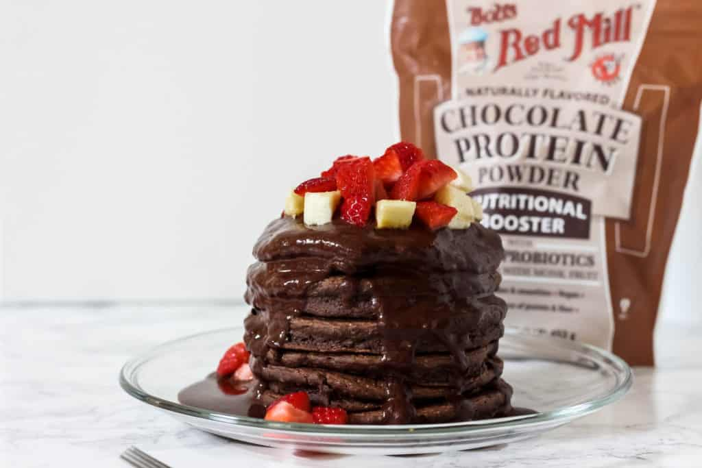 chocolate protein powder pancakes