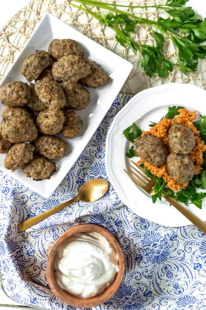 healthy baked cypriot keftedes meatballs