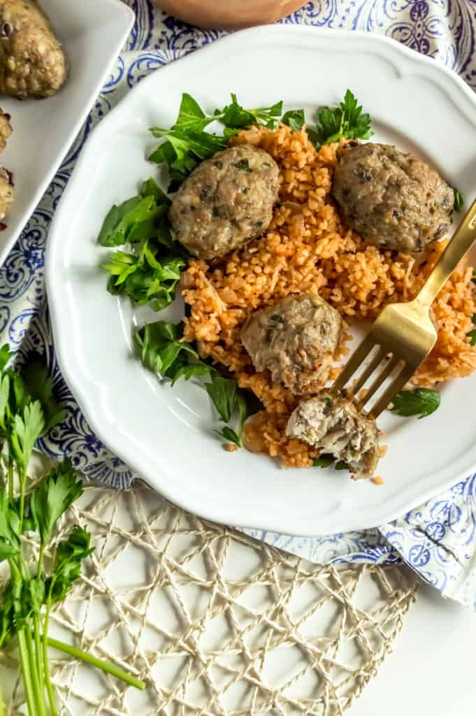 healthy cypriot keftedes bulgur