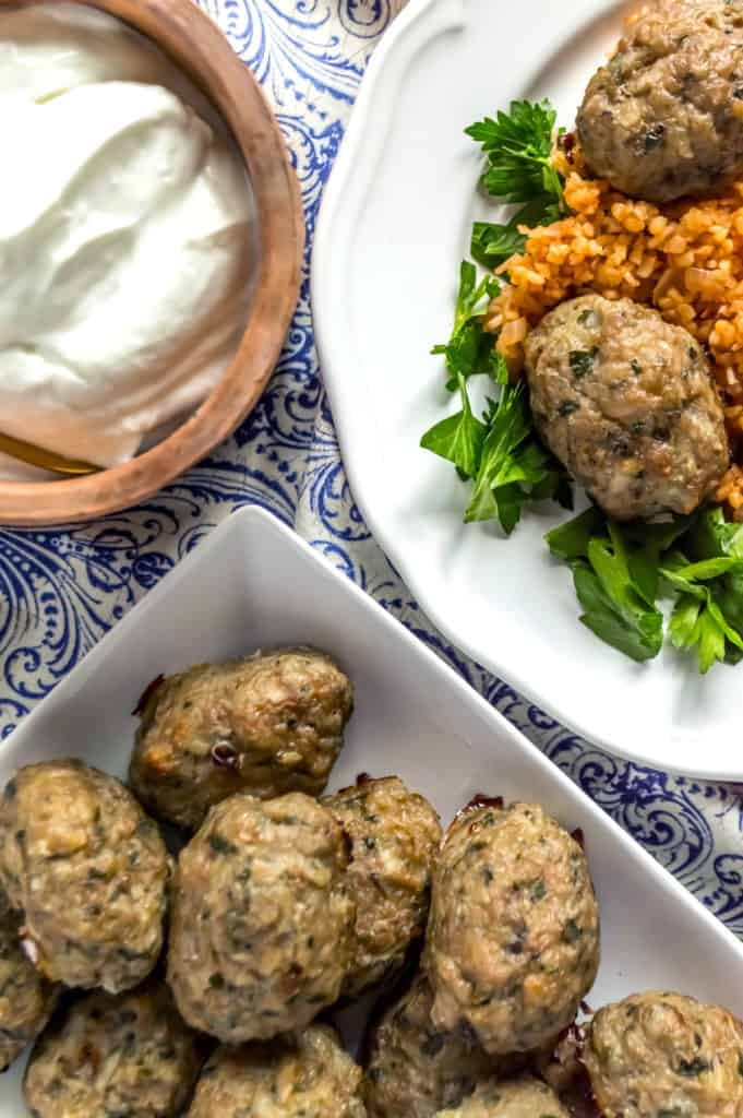 healthy greek keftedes meatballs