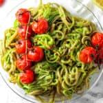 Green Goddess Zucchini Pasta (Vegan)