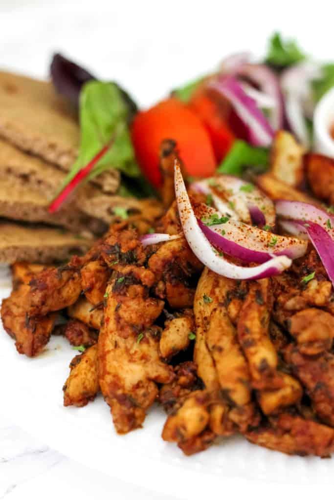 Healthy Greek Chicken Gyro Platter