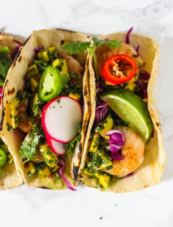 Shrimp Tacos with Mango Chimicchuri