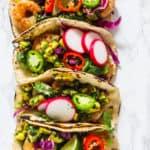 Shrimp Tacos with Mango Chimicchuri