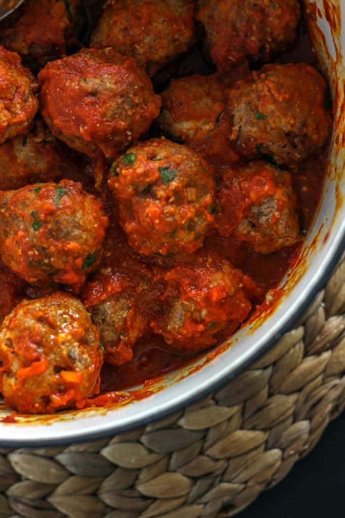 {Easy and Healthier} Spaghetti and Baked Meatballs
