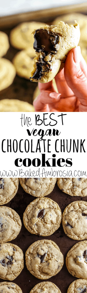 The Best Vegan Chocolate Chunk Cookies (Soft!)