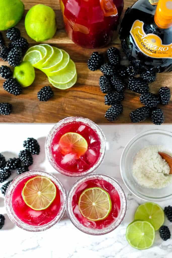 Perfect Blackberry Margaritas