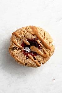 Blackberry Almond Thumbprint Cookies (Paleo, Gluten Free, Vegan)