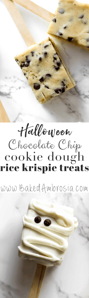 Chocolate Chip Cookie Dough Rice Krispie Treats