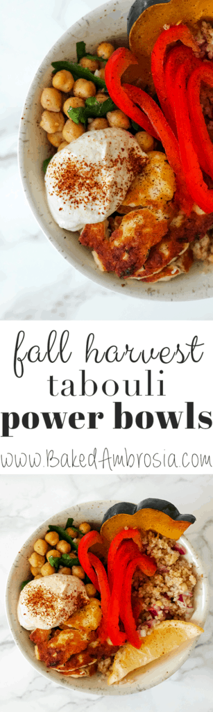 Fall Harvest Tabouli Power Bowls