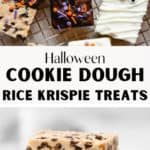 Halloween Cookie Dough Rice Krispie Treats Pin
