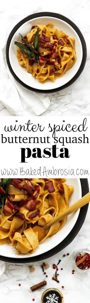 Winter Spiced Butternut Squash Pasta