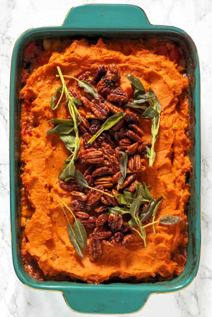 This healthy twist on classic shepherd's pie combines much-loved flavors to create the ultimate cozy dinner – Sweet Potato Turkey Shepherd's Pie will be your family's favorite this fall!