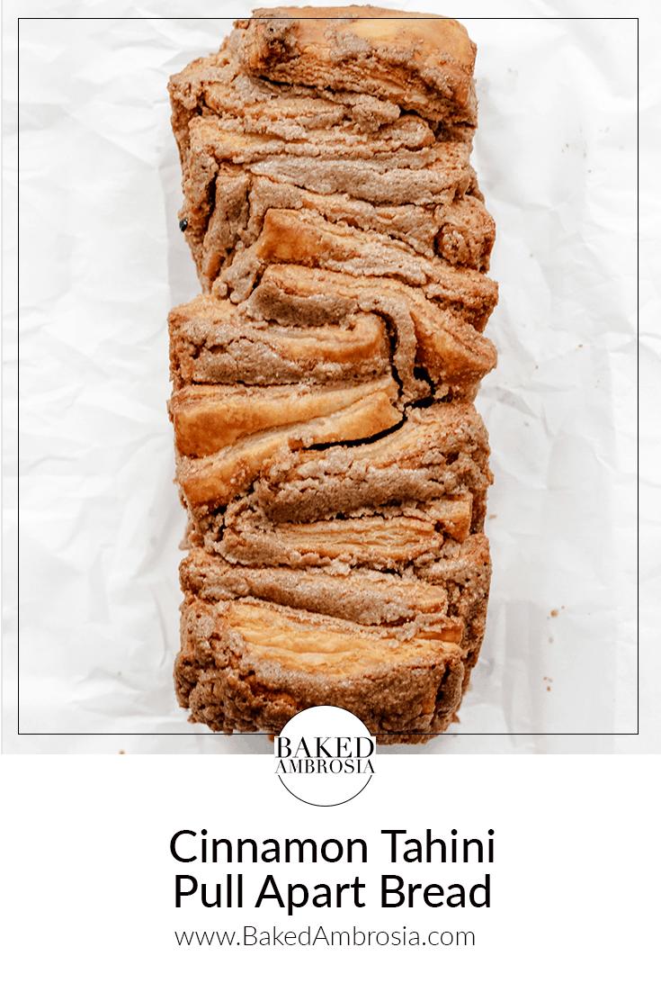Cinnamon Tahini Pull Apart Bread