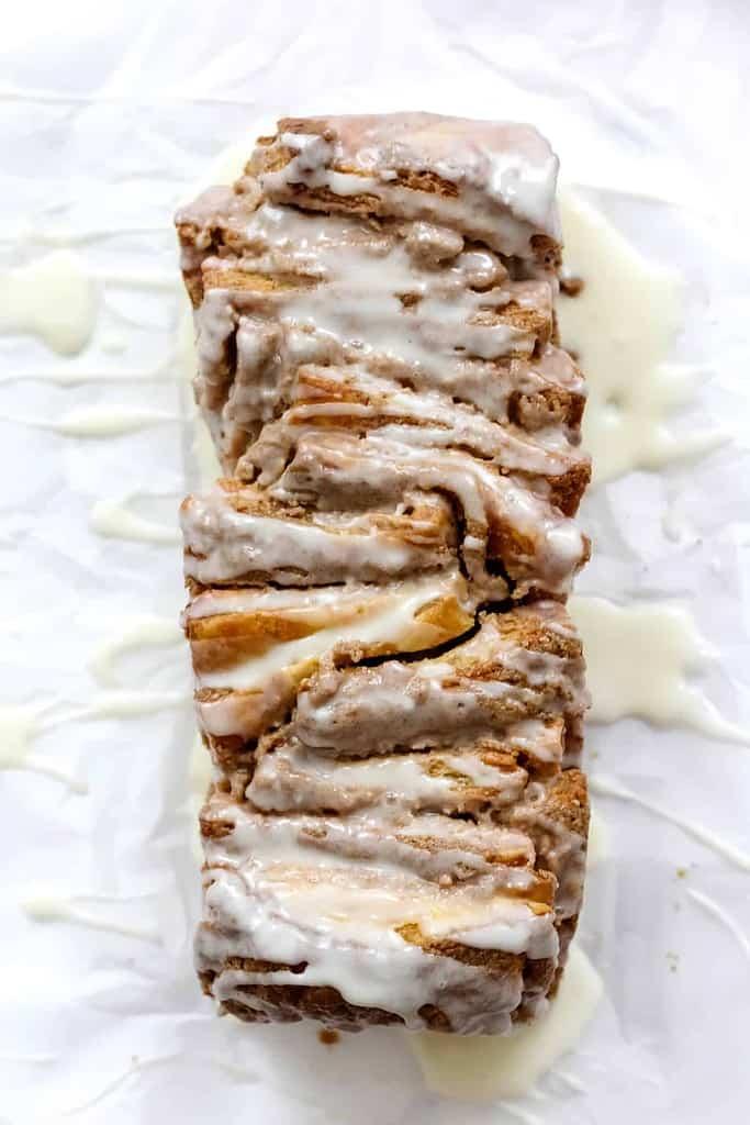 Cinnamon Tahini Pull-Apart Bread