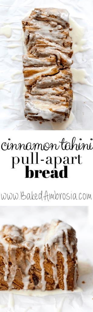 Puff Pastry Cinnamon Tahini Pull-Apart Bread