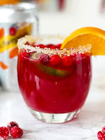 Sparkling Orange Cranberry Margaritas