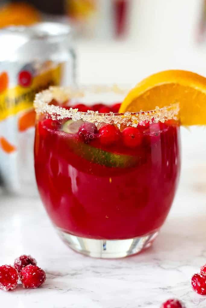 Sparkling Orange Cranberry Margaritas