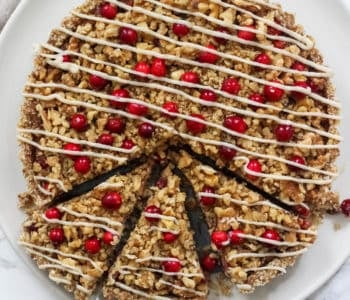 No-Bake Cranberry Walnut Tart (vegan, gluten free, Paleo)