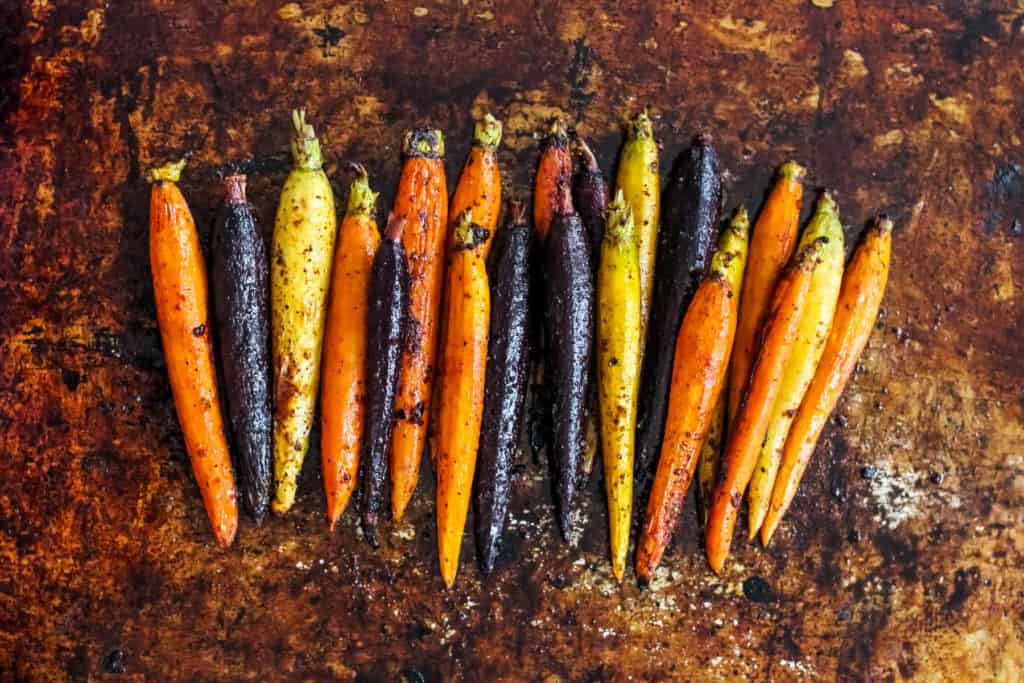 Spicy Maple Roasted Carrots