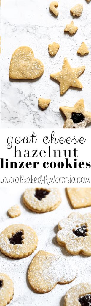 Goat Cheese Hazelnut Linzer Cookies