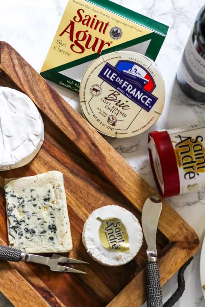 Christmas Cheese Board with French Wines