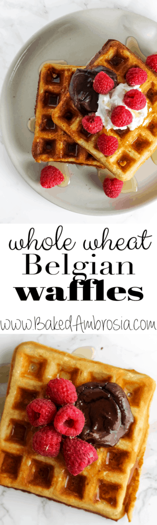 Crispy Whole Wheat Belgian Waffles