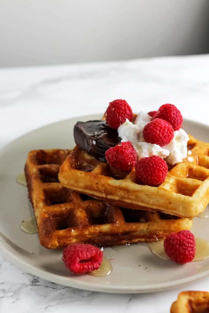 Crispy Whole Wheat Belgian Waffles