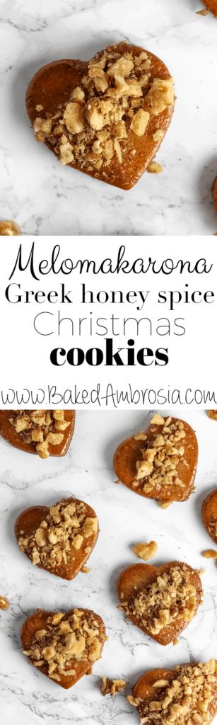 Melomakarona - Greek Honey Spice Christmas Cookies