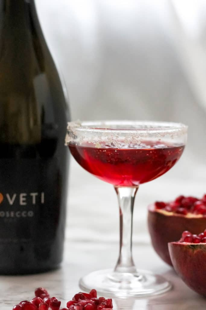 Sparkling Pomegranate Ginger Prosecco Cocktail