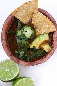 30 Minute Healthy Chicken Tortilla Soup