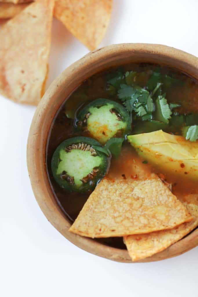 30 Minute Healthy Chicken Tortilla Soup
