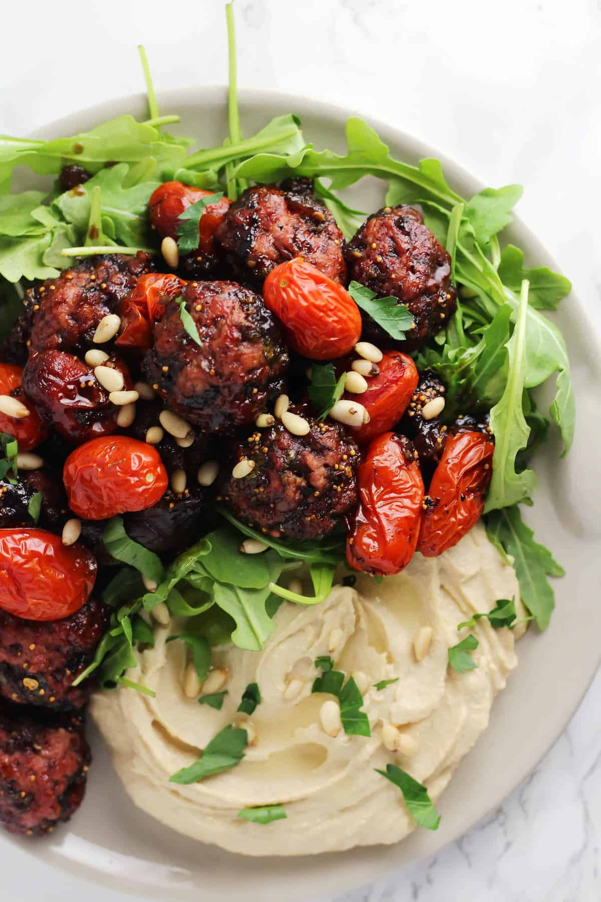 Balsamic Fig Glazed One-Skillet Meatballs