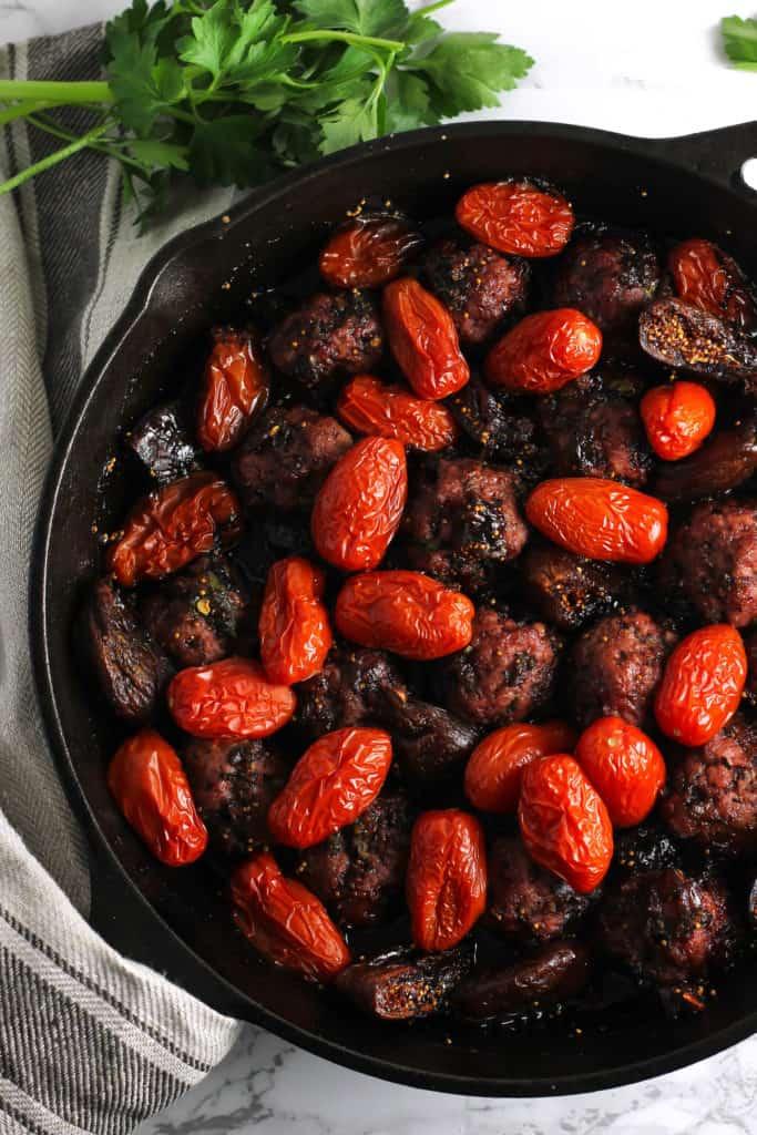 Balsamic Fig Glazed One-Skillet Meatballs 5
