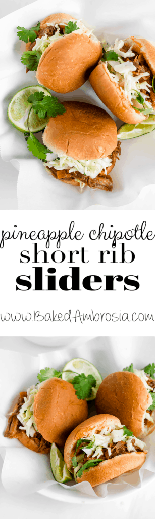 Pineapple Chipotle Short Rib Sliders