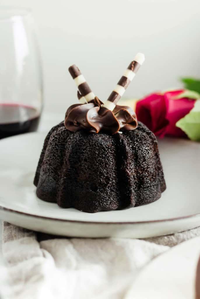 Valentine's Day Chocolate Lava Cake