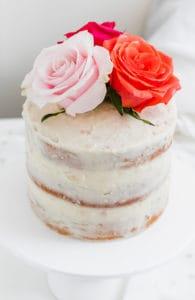 White Chocolate Coconut Almond Layer Cake
