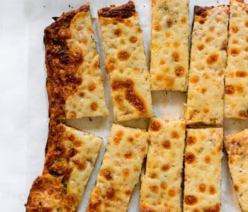Low Carb Cheesy Cauliflower Bread Sticks