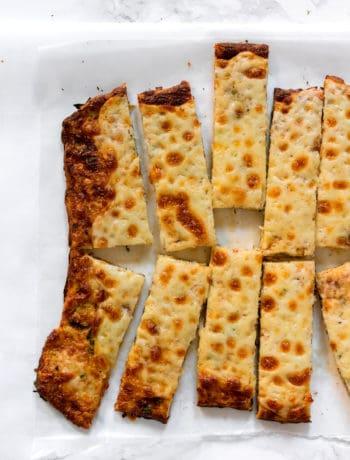 Low Carb Cheesy Cauliflower Bread Sticks