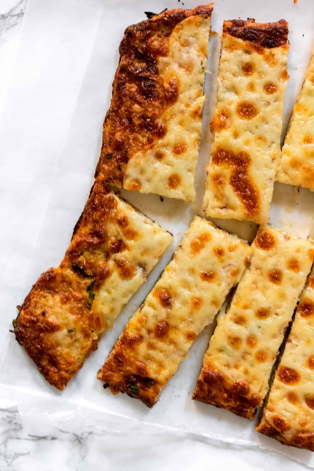 Cheesy Cauliflower Breadsticks (gluten free)