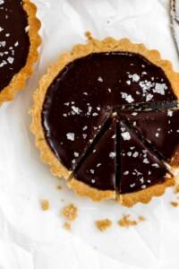 Mini Dark Chocolate + Sea Salt Tarts