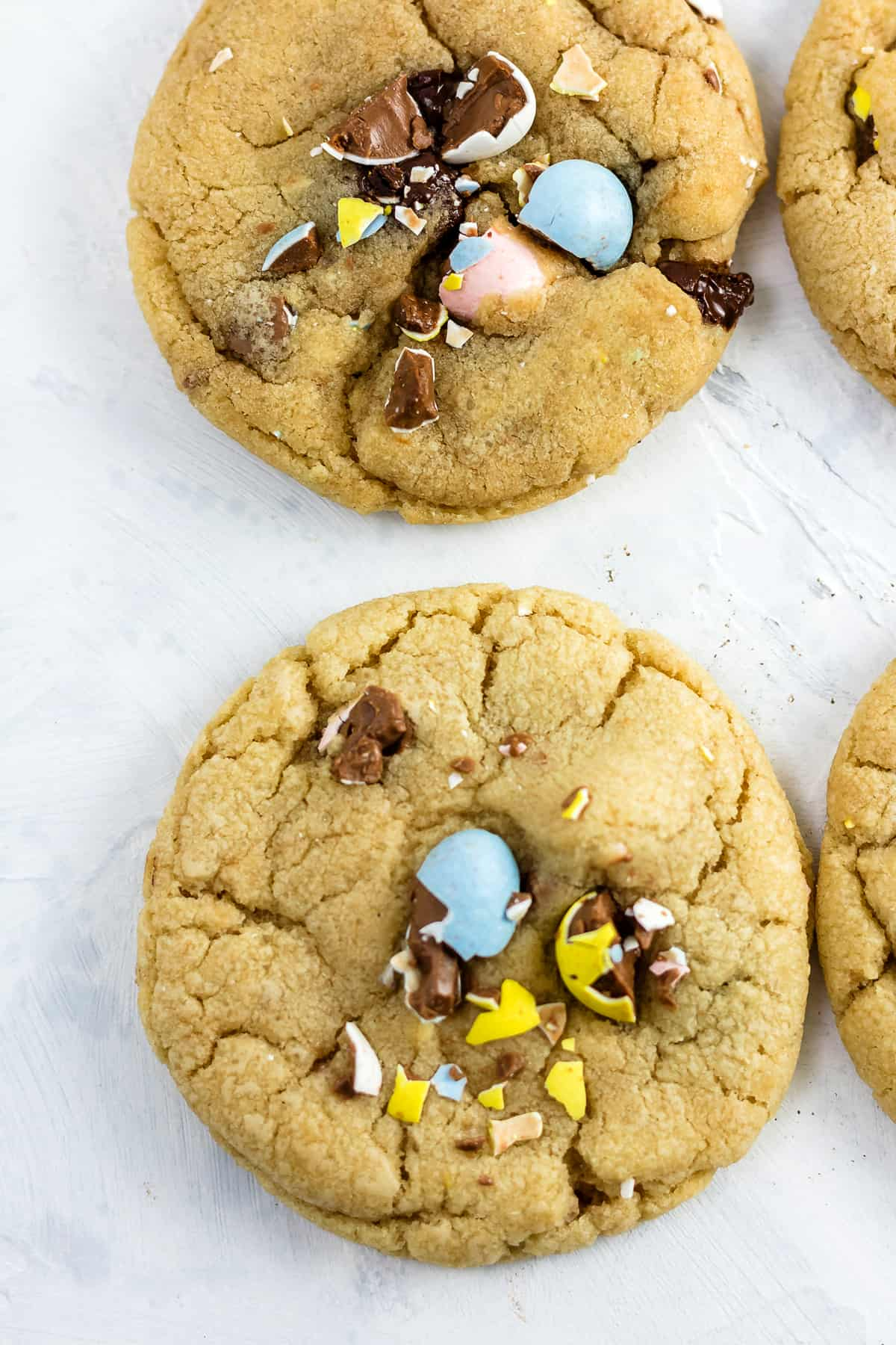 Soft and Chewy Cadbury Mini Egg Easter Chocolate Chip Cookies