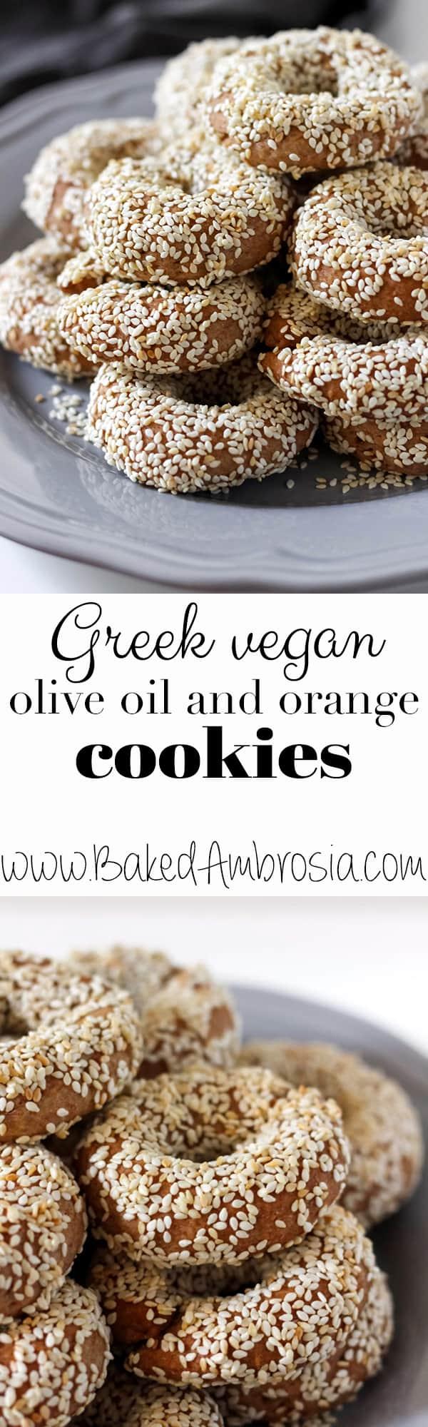 Greek Vegan Olive Oil and Orange Cookies