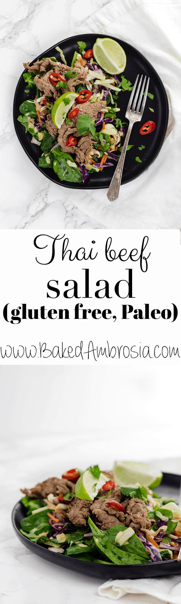 Thai Beef Salad (gluten free + dairy free)