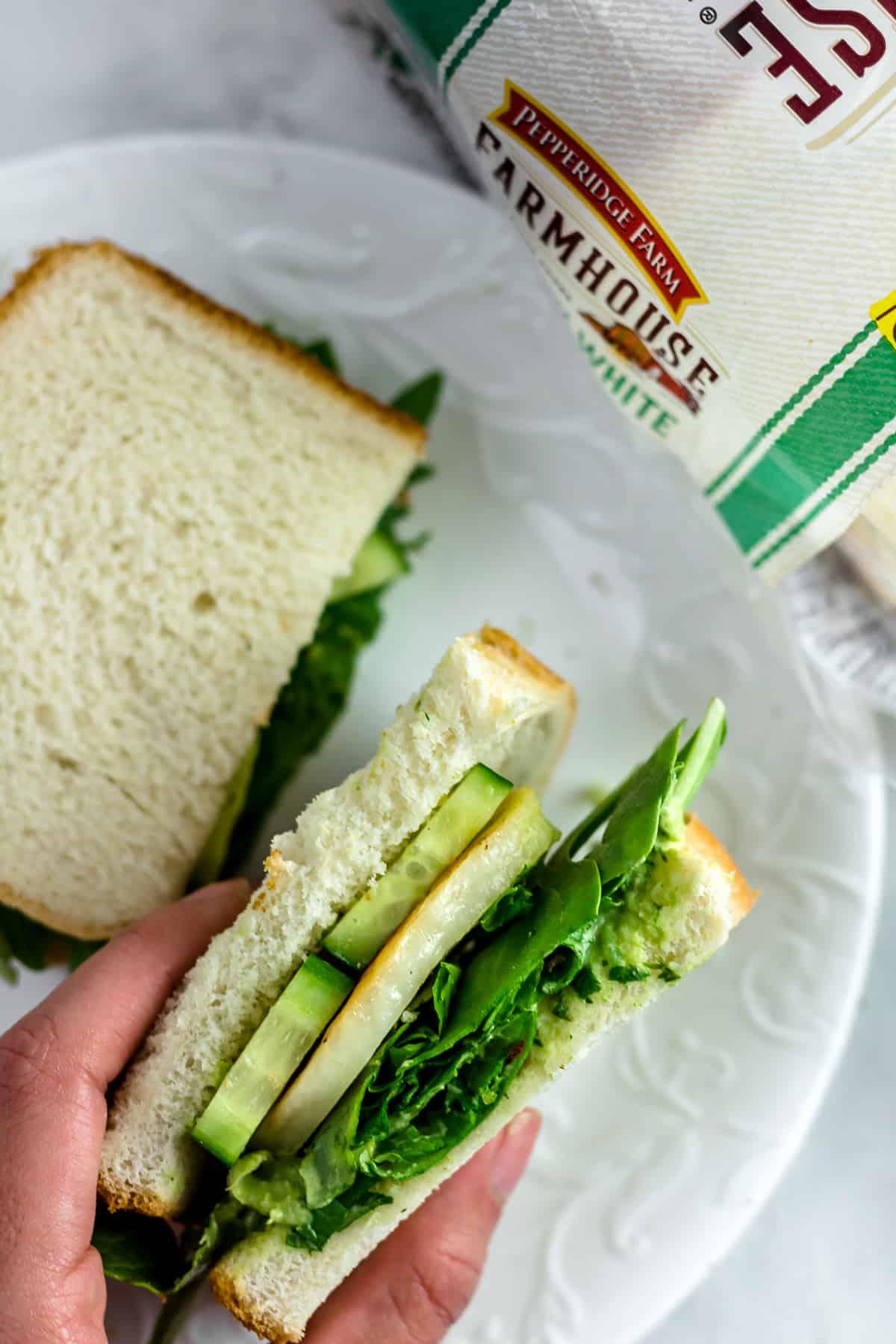 Spicy Green Goddess Halloumi Sandwich