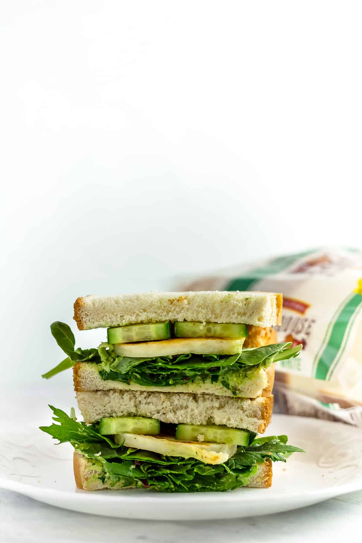 Spicy Green Goddess Halloumi Sandwich