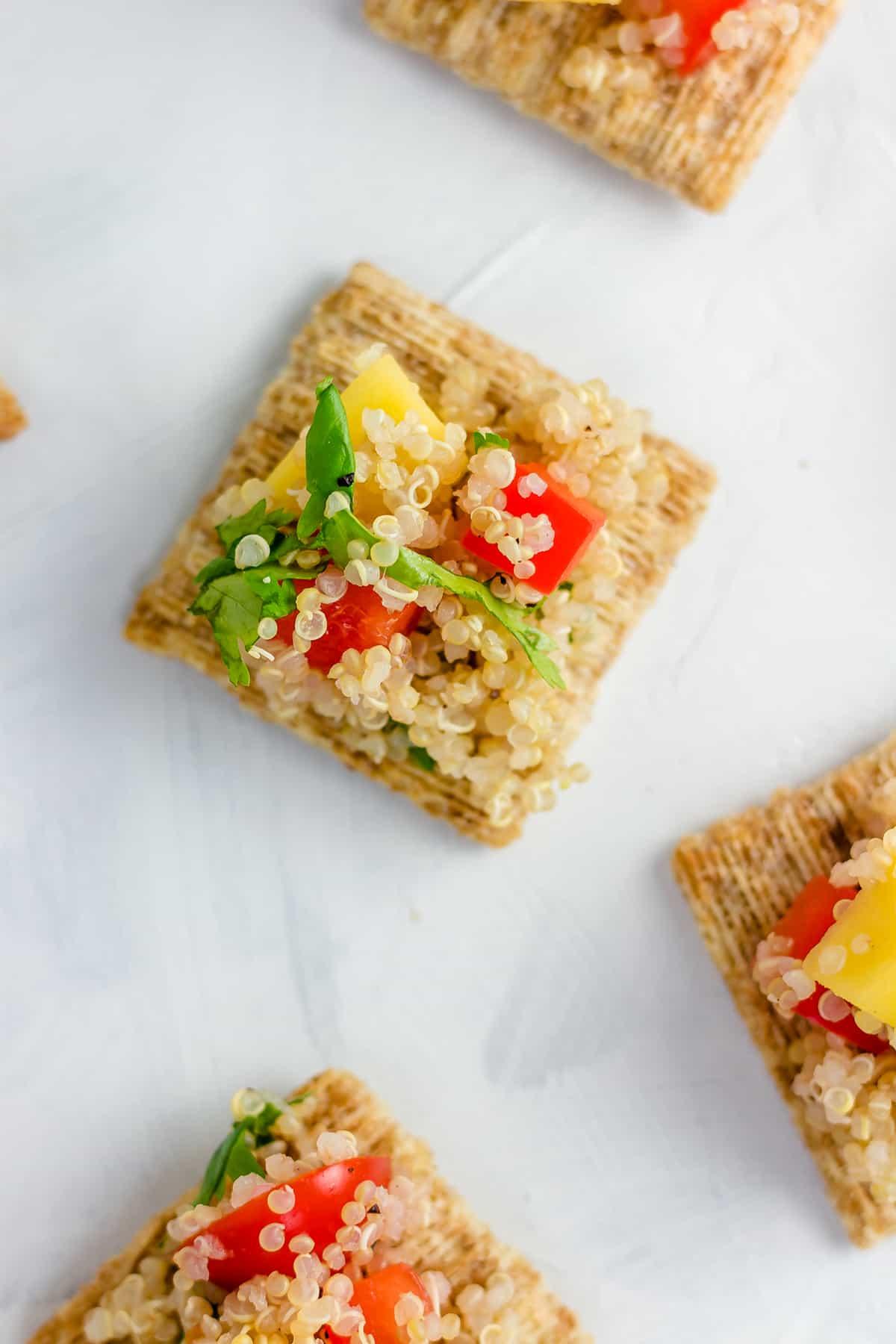 TRISCUIT Crackers with Quinoa Mango Salad