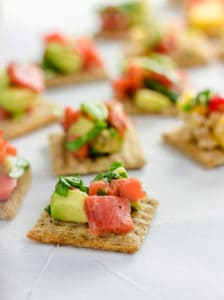 TRISCUIT Crackers with Smoked Salmon and Avocado Salsa