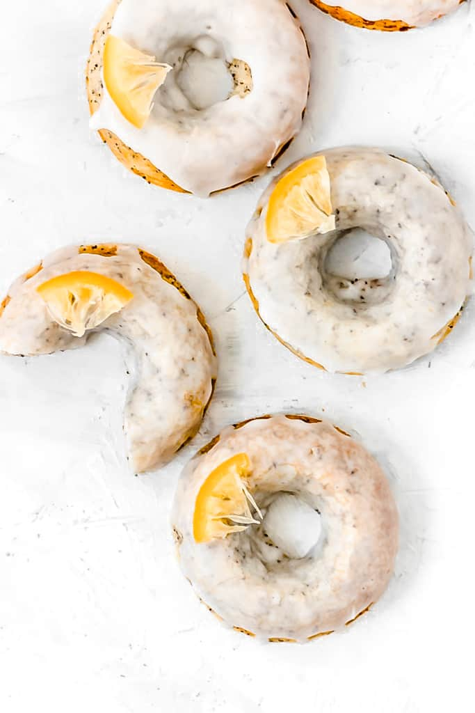 These 20 minute BakedLemon Poppy Seed Donutsare soft, fluffy, and bursting with fresh lemon flavor and poppy seeds! (gluten free, Paleo, with a vegan option)